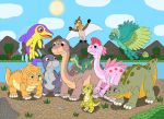 Ten young dinosaurs of the Great Valley by MCsaurus