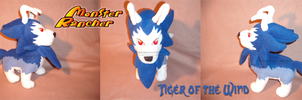 Tiger of the Wind plush by darkpheonixchild