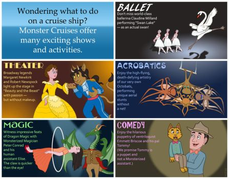 Monster Cruise Activities Brochure, page 1 by KTurtle
