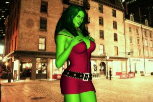 She-Hulk: The Nightlife by MattBrewer