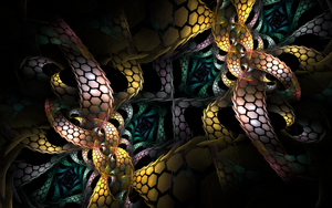 snake pattern in the dark by Andrea1981G