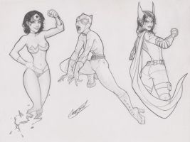 DC Girls by SergioCuriel