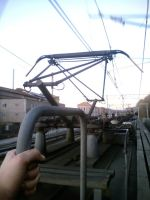 Pantograph on the roof of ER2T-7228 by TR4Y