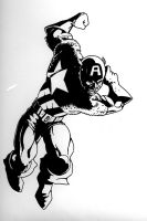 captain america ink by androsm