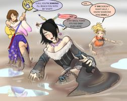 Final Fantasy X Girls in Quicksand by Silkyfriction