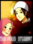 The Pious Student Cover by yana8nurel6bdkbaik