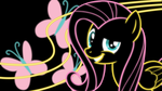 Fluttershy Neon Wallpaper by RDbrony16