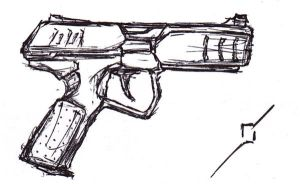 Commando Pistol quick-sketch by DestructoWad