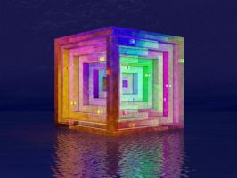 Floating Cube 07 by jleoc