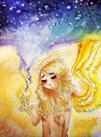stars and candles by Kazia-Kat