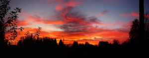 our sunset panorama 2 by T-Nelly