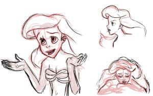 Little Mermaid Sketches by pirate-LD