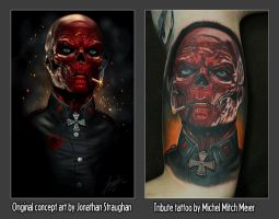 Red Skull Tribute Tattoo by liquid-venom