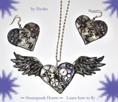 Steampunk - Flying Heart by Hyo-pon