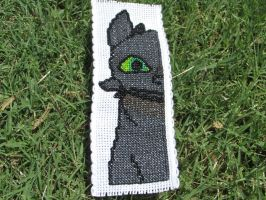 Toothless the Night Fury Cross-Stitch Bookmark by DaydreamQueenMisha