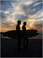 Sunset Surf One by timkeller