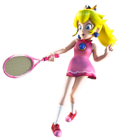 Peach Tennis render by ArRoW-4-U