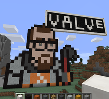 Let's Build: Minecraft Half-Life 8-Bit Freeman by CrashyBandicoot