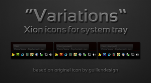 Variations Xion sys-tray icons by scoopeeedoo