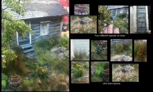 Eastern front : Part tree front garden plants by Makingscalemodels