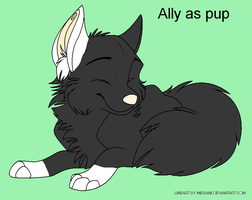 Ally as pup by Cool-Ally