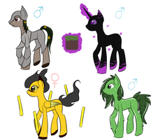 Minecraft inspired pony adopts (OTA) ( Closed ) by Tharkan