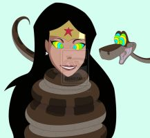 Wonder Woman N Kaa by ruiz45 by hatimeo