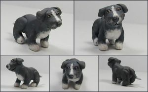 Little Pit Bull Sculpture by LeiliaClay