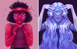 ruby and sapphire by psychiartistic