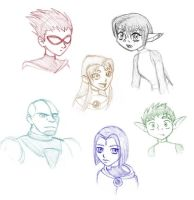 Titans - first fanart ever by merrypaws