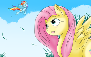 Fluttershy And Rainbowdash by ShyMemories