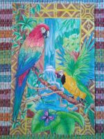 Parrots in Paradise by CallieFink