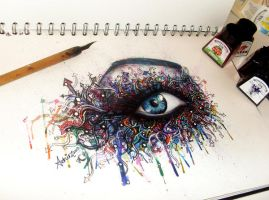 Graffiti Eye by atahirART