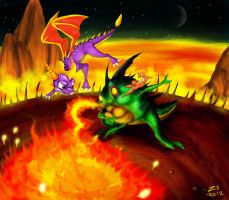 Spyro and Sheila vs Buzz by ZzNightmareGirlzZ