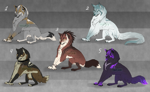 Wolf ADOPTABLES -CLOSE- by Vao-Ra
