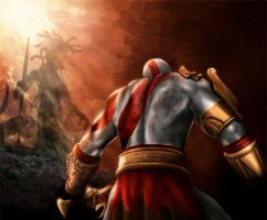 God of War by Levequeart