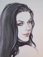Adrianne Curry Sketch by TessFowler