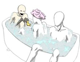 slender bro's Bath time by GreenMute