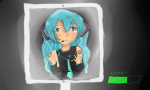 The disappearance of Miku by PinkiPockets