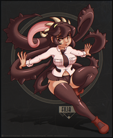 Digi Illustration - Filia from SkullGirls by Indivicolours