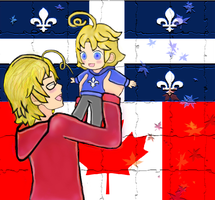 Canada and Quebec by malerfique