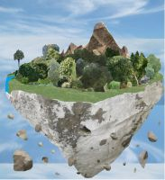 my floating island again. by wolf-child1995