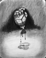 Hand in charcoal by londerwost
