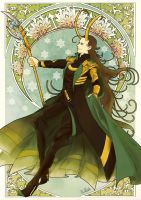 Loki after Art Nouveau by toyjoypop