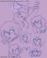 Helena doodles by magicpotion