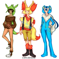 [Adoptables] Pokemon gijinka 2 [Open] by Z-afiro