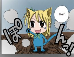 Fairy tail Omake - Happy transforming by Natsu9555
