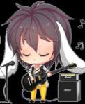 :Gn'R: Bunny Izzy Stradlin  play guitar Pixel by PrinceOfRedroses