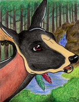In a deep forest .:ACEO:. by BlackRayser