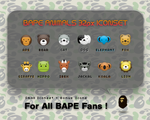 small BAPE ANIMALS by chun-the-ripper